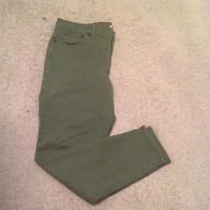 J Crew size 30 olive green jeans